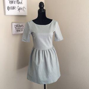 Zara Light Blue Dress w/ Exposed Back