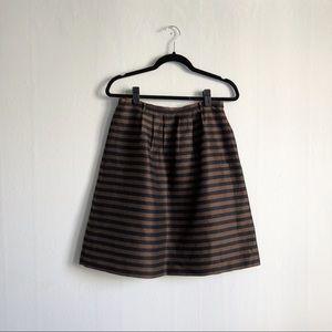 madewell stripe pleat skirt