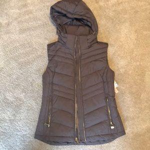 Michael Kors gray puffer vest