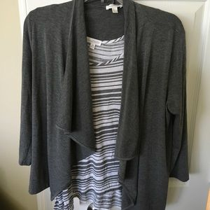 Cardigan and top, set
