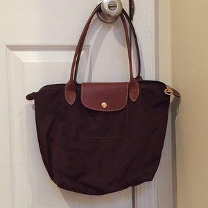 Dark Brown Medium Longchamp Bag