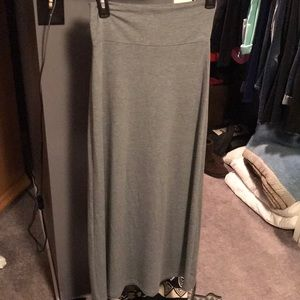 Gray Maxi Skirt - Charlotte Russe - Small