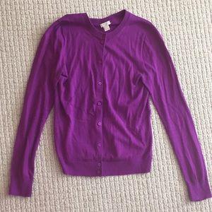 Rich plum purple cardigan