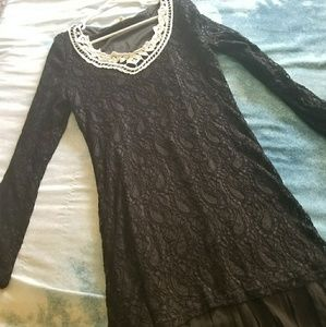 Altar'd State Black Lacey Dress