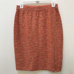 St. John Collection Knit Orange Pencil Skirt