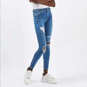 Topshop Moto Leigh Super Ripped Skinny Jeans