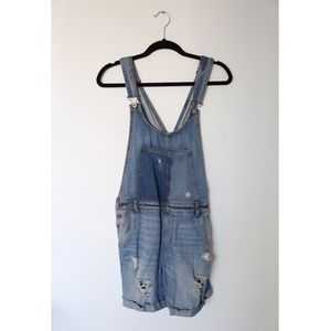 Zara basic denim overall