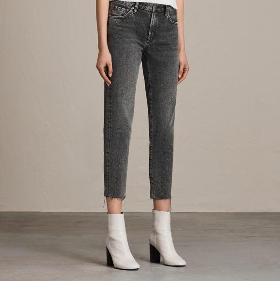 c18aabfff5c All Saints Pants - All Saints Muse slim dark gray jeans