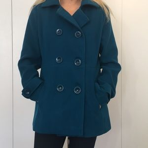 Teal forever 21 pea coat