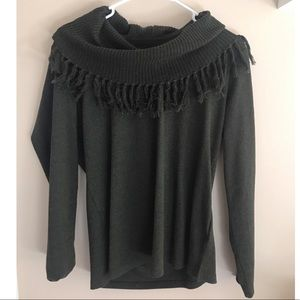 Green Tassel Sweater