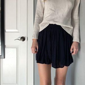 Navy Blue Brandy Melville Skater Skirt