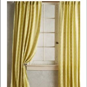 Anthropologie Quadrille Curtain Panels (2)
