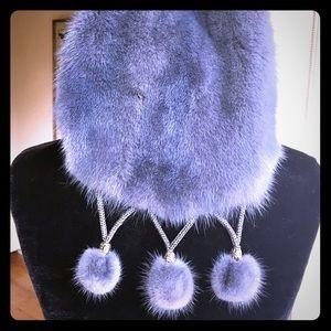 Russian Genuine Blue Mink Hat