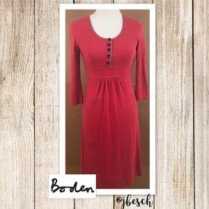 Boden Cashmere & Angora Blend Red Dress