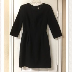J.Crew Black Wool Sheath Dress