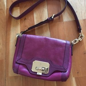 COLE HAAN Crossbody Purse, Berry