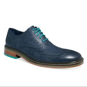 Men's Blue Colton Wingtip Oxfords