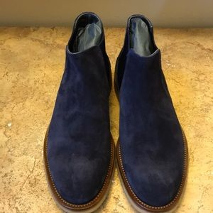 To Boot New York Navy Suede Boots