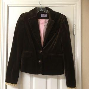 Juicy Couture Brown Velvet Blazer