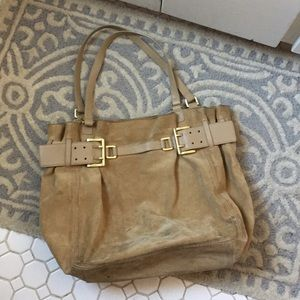 DKNY Suede Leather Tote Purse