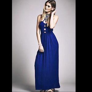 Free People x Lotta Stensson Crepe Maxi Dress