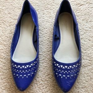 Banana Republic Royal Blue Cutout Flats