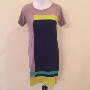 BCBGMAXAZRIA Louella 100% Silk and Rayon Dress