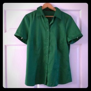 The Limited Short Sleeved Button Down Top