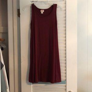 Garnet Sleeveless T Shirt Dress