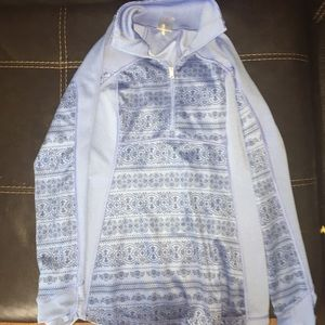 Calia blue quarter zip