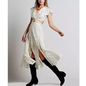 FREE PEOPLE Party Dress Intricate Long Draped Gown