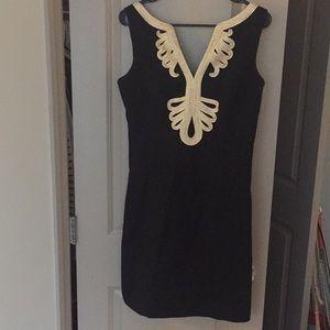 Lilly Pulitzer Black & Gold Party Dress Sz 6