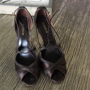 Brown Bebe Heels