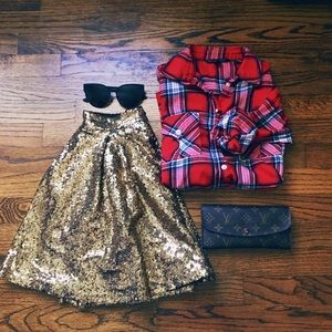 Holiday Bae Sequin Skirt