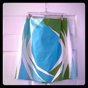 Talbots Geometric Skirt