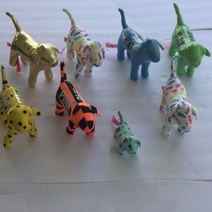 Bundle of 8 Victoria Secret Pink Collectible Dogs