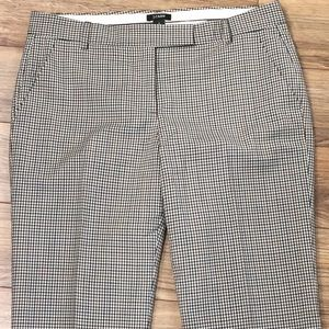 J. Crew Plaid Low Fit Pants in Tropical Wool