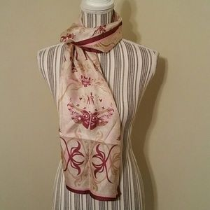 EUC! Warriors In Pink Breast Cancer Scarf Silk