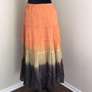 Perfect Fall Colors Boho Maxi Skirt