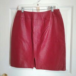 Genuine leather skirt #23