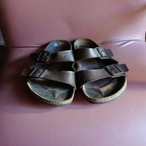 Birkenstock 44 Arizona sandals brown oiled leather