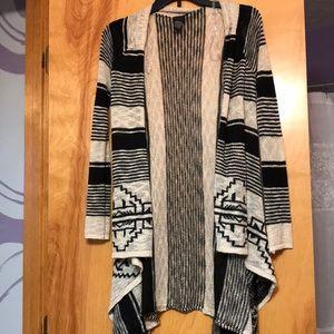 Black & tan printed cardigan