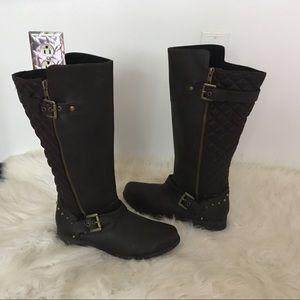 Skechers Dark Brown Quilted Boots