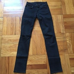 7 for All Mankind Faded Black Skinny Jean
