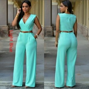 Pants - 🎉CCO🎉 turquoise sleeveless jumpsuit