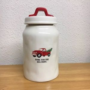 Rae Dunn Red Home For The Holidays Truck Canister