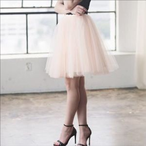 Space 46 Boutique Blush Tulle Skirt