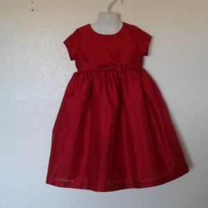 Red POLYESTER Xmas Dress w/Netting