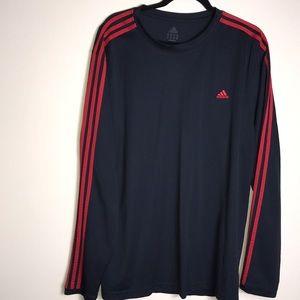 Adidas Black red striped XXL Long sleeve shirt