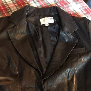 Leather blazer style Elizabeth and James coat